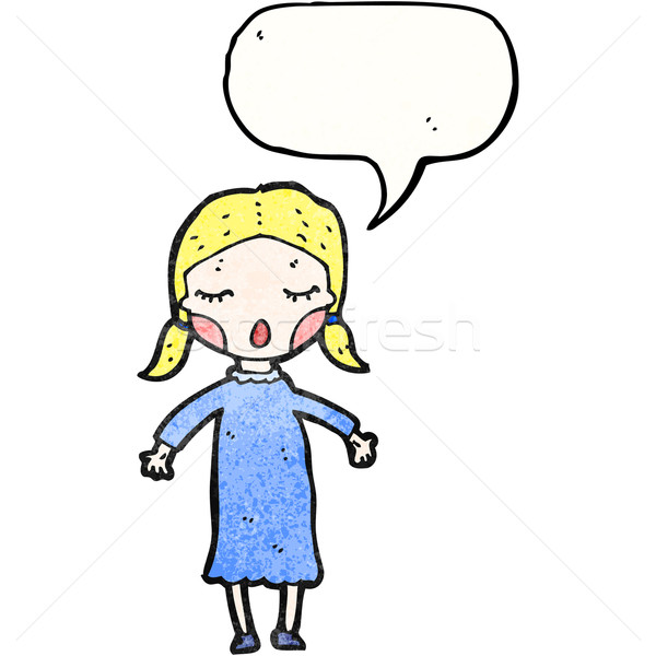cartoon singing girl Stock photo © lineartestpilot