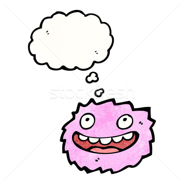 cartoon pink furry monster Stock photo © lineartestpilot