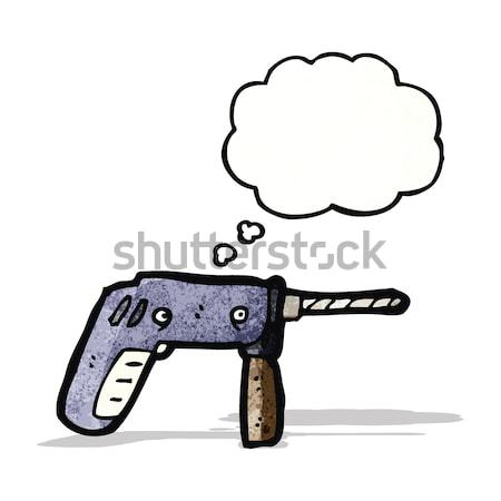 розовый пистолет Cartoon пушки ретро рисунок Сток-фото © lineartestpilot