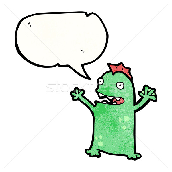 cartoon little swamp monster Stock photo © lineartestpilot