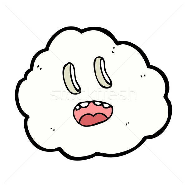 Stock photo: cartoon spooky cloud