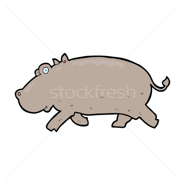 cartoon hippopotamus Stock photo © lineartestpilot