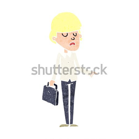 cartoon arrogant businessman pointing Stock photo © lineartestpilot