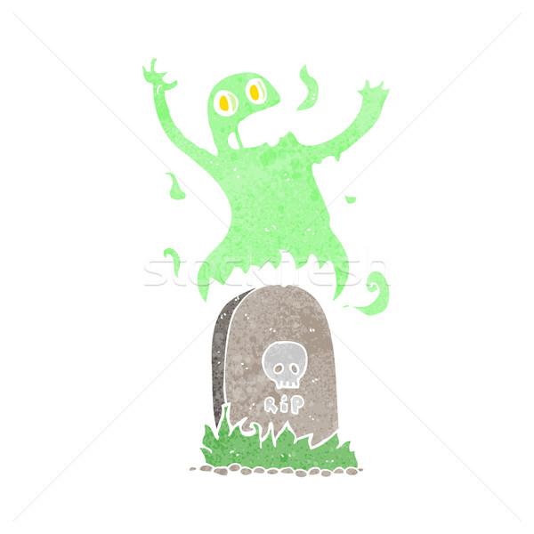 Desenho animado fantasma grave mão projeto Foto stock © lineartestpilot