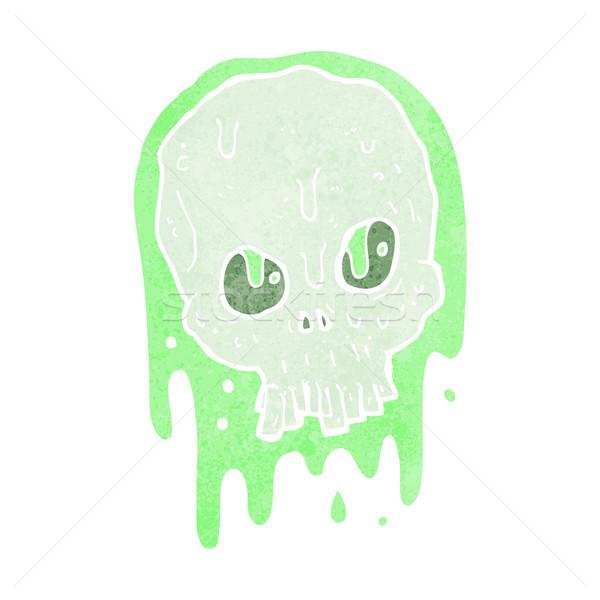Cartoon слизистый череп стороны дизайна Crazy Сток-фото © lineartestpilot