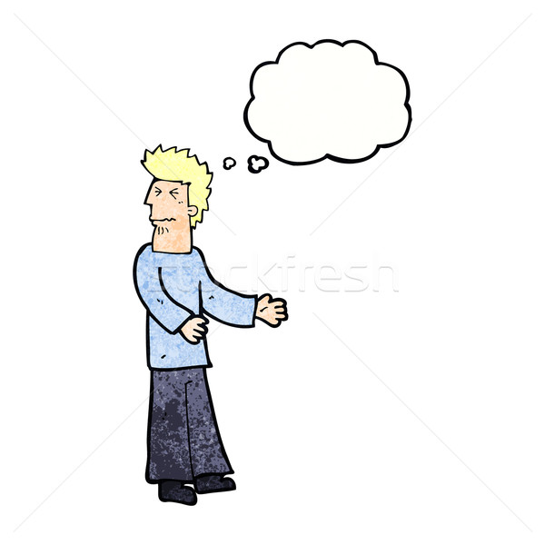 cartoon disgusted man with thought bubble Stock photo © lineartestpilot