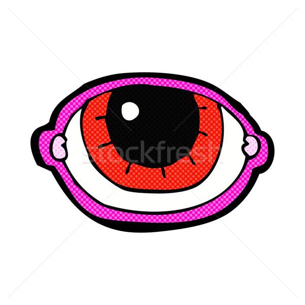 comic cartoon staring eye Stock photo © lineartestpilot