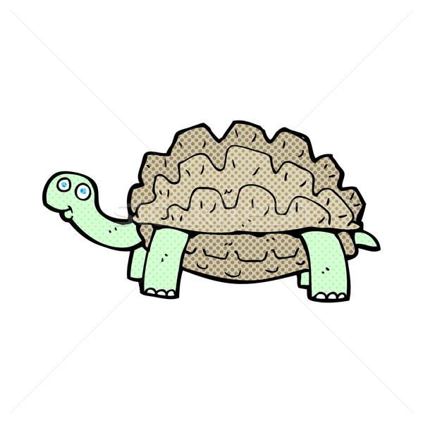 comic cartoon tortoise Stock photo © lineartestpilot