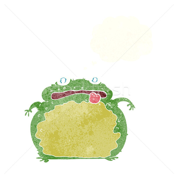 cartoon funny frog with thought bubble Stock photo © lineartestpilot