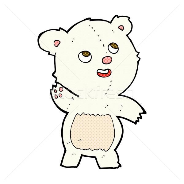 Fumetto cartoon cute orso polare teddy Foto d'archivio © lineartestpilot