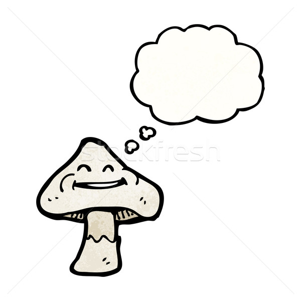 happy cartoon mushroom Stock photo © lineartestpilot