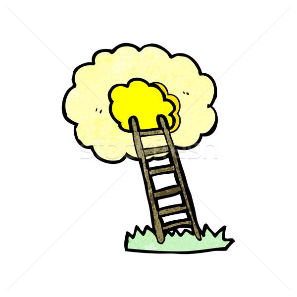 cartoon ladder to heaven Stock photo © lineartestpilot