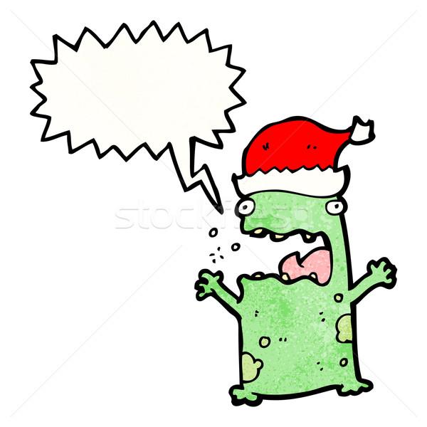 cartoon shouting christmas frog Stock photo © lineartestpilot