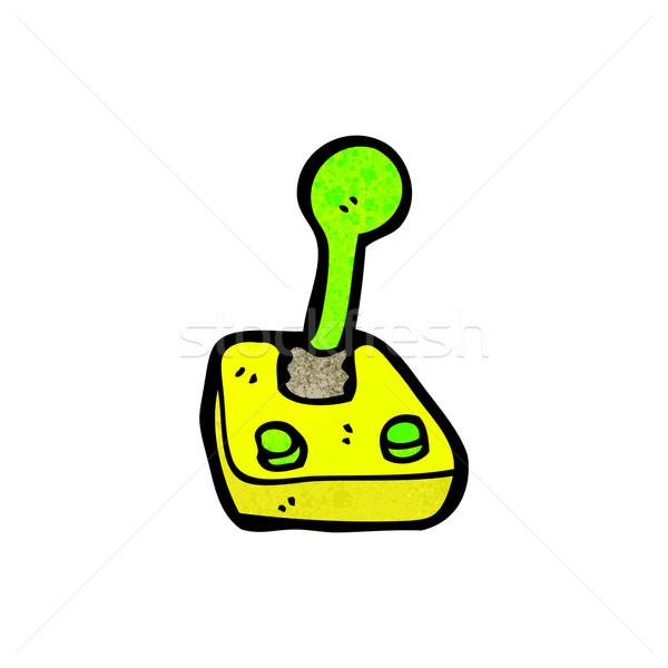 Cartoon компьютер джойстик ретро рисунок Cute Сток-фото © lineartestpilot