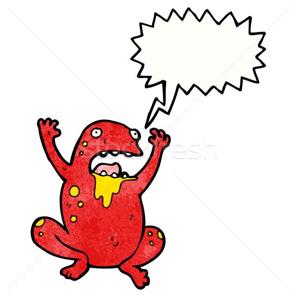 Cartoon veleno rospo rana retro disegno Foto d'archivio © lineartestpilot