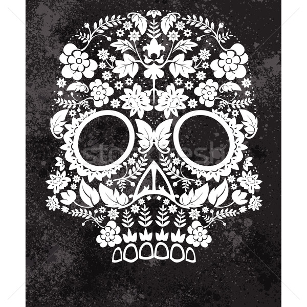 Сток-фото: день · мертвых · череп · шаблон · религии · мексиканских