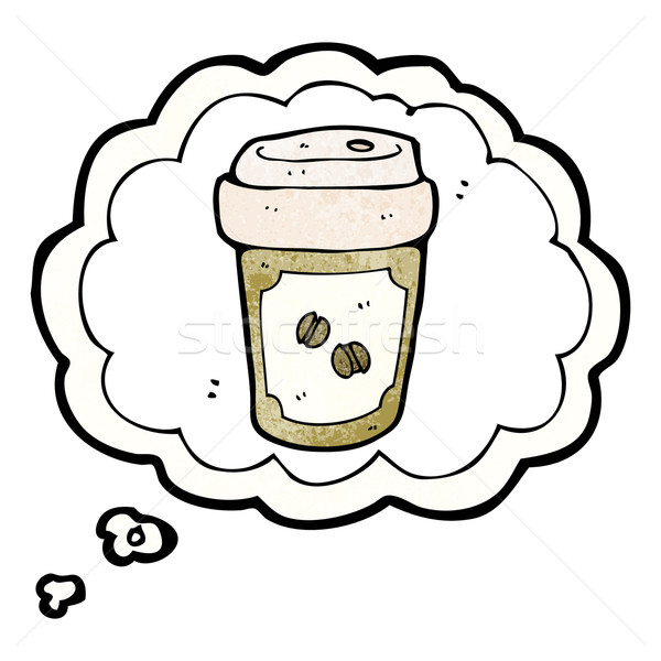 thinking about cofee cartoon Stock photo © lineartestpilot