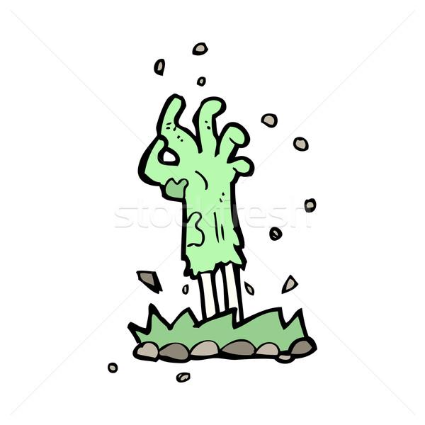 Cartoon зомби стороны землю Сток-фото © lineartestpilot