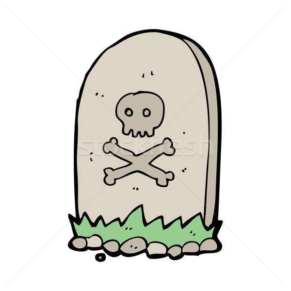Karikatür mezar el dizayn çılgın mezarlık Stok fotoğraf © lineartestpilot