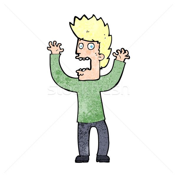 Сток-фото: Cartoon · испуганный · человека · дизайна · искусства · мальчика