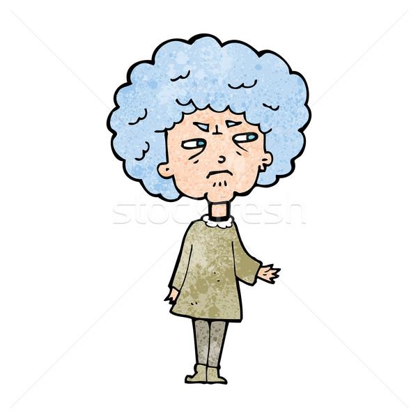 cartoon old lady Stock photo © lineartestpilot