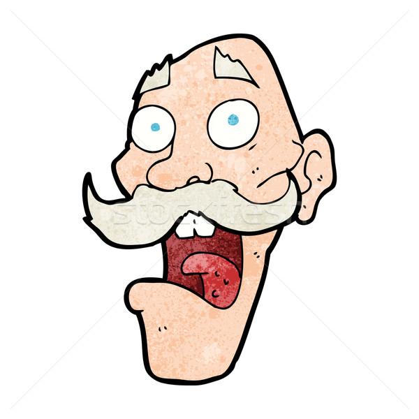 Cartoon bange oude man man ontwerp kunst Stockfoto © lineartestpilot