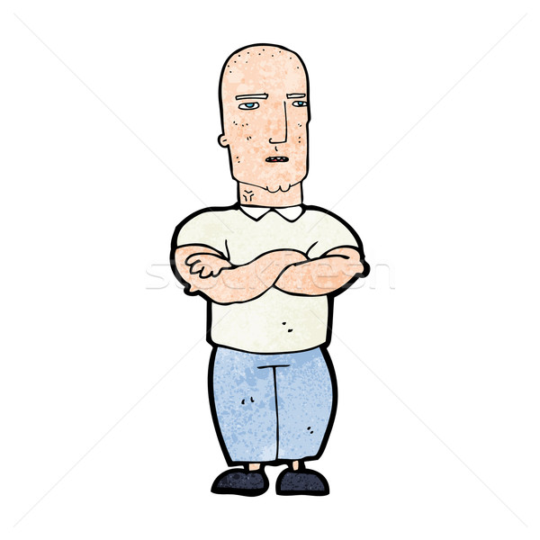 Cartoon molesto calvo hombre mano diseno Foto stock © lineartestpilot