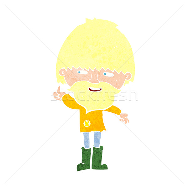 cartoon hippie man in wellington boots Stock photo © lineartestpilot