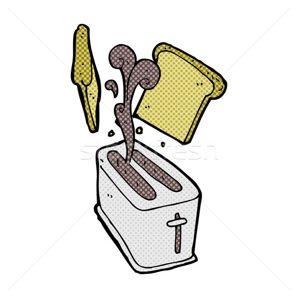 comic cartoon toaster spitting out bread Stock photo © lineartestpilot