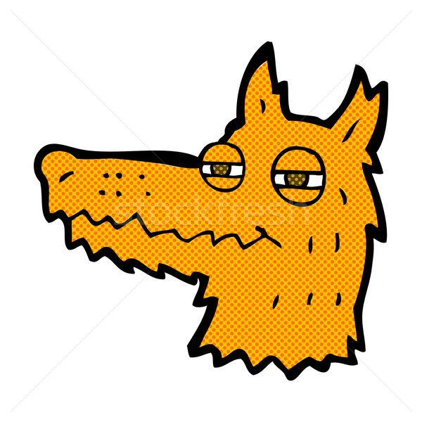comic cartoon smug fox face Stock photo © lineartestpilot