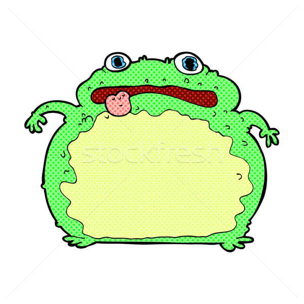 comic cartoon funny frog Stock photo © lineartestpilot