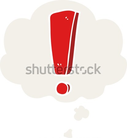 cartoon exclamation mark with thought bubble Stock photo © lineartestpilot