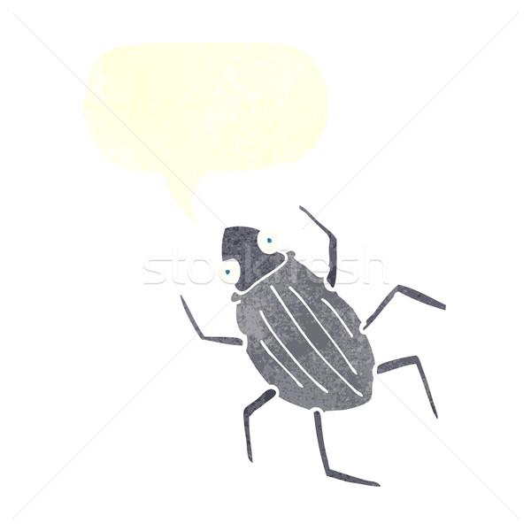 Cartoon bug bulle main design art Photo stock © lineartestpilot