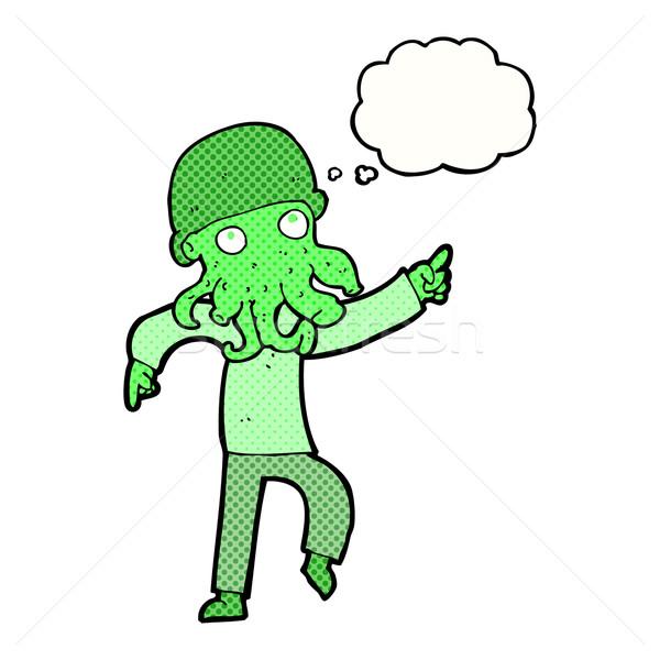 Cartoon straniero uomo dancing bolla di pensiero mano Foto d'archivio © lineartestpilot