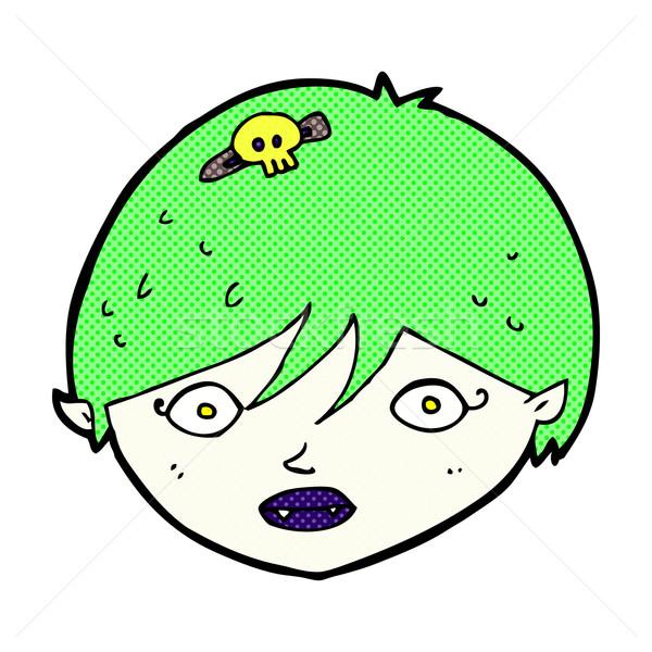 комического Cartoon вампир лице ретро Сток-фото © lineartestpilot