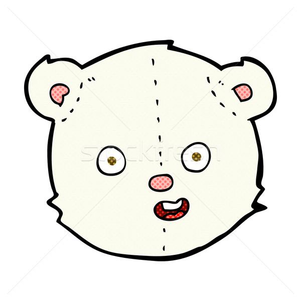 комического Cartoon полярный мишка голову ретро Сток-фото © lineartestpilot