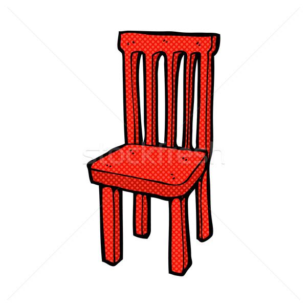 comic cartoon wooden chair Stock photo © lineartestpilot