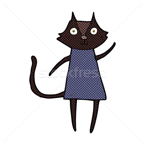 かわいい コミック 漫画 黒猫 レトロな ストックフォト © lineartestpilot