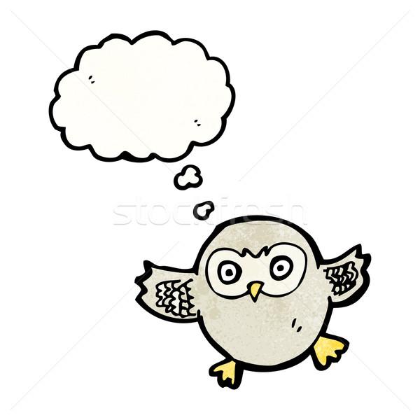 cute little owl cartoon Stock photo © lineartestpilot