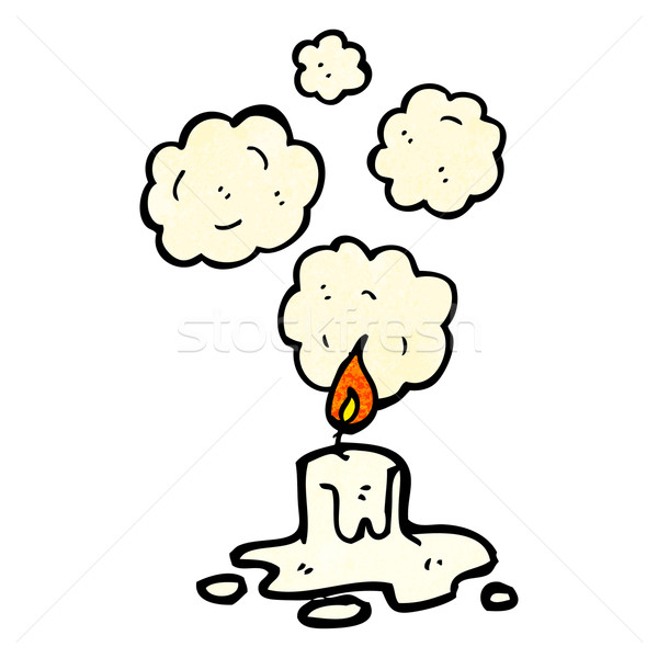 cartoon melting candle Stock photo © lineartestpilot