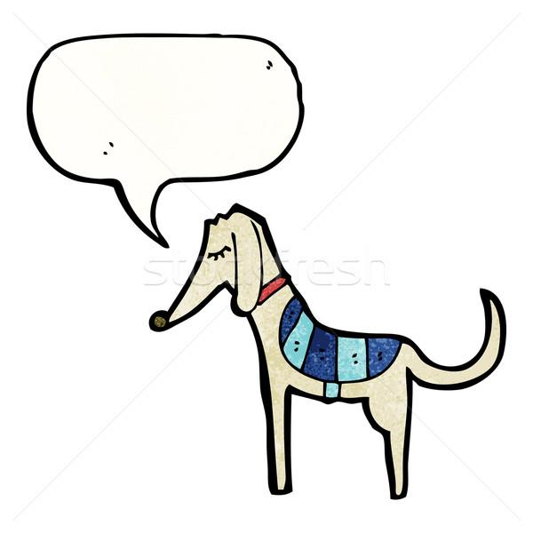 Desenho animado galgo cão falante retro desenho Foto stock © lineartestpilot