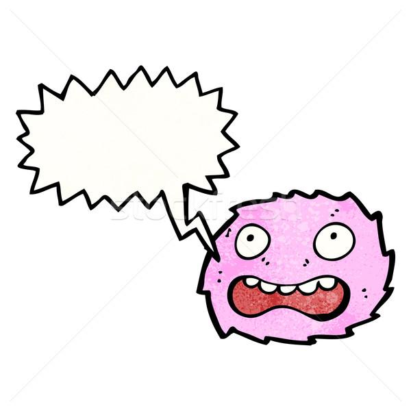 little pink furry monster cartoon Stock photo © lineartestpilot