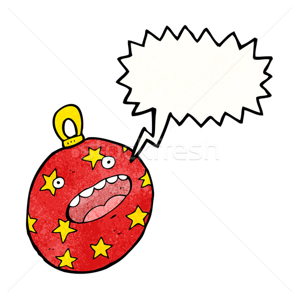 cartoon christmas bauble Stock photo © lineartestpilot