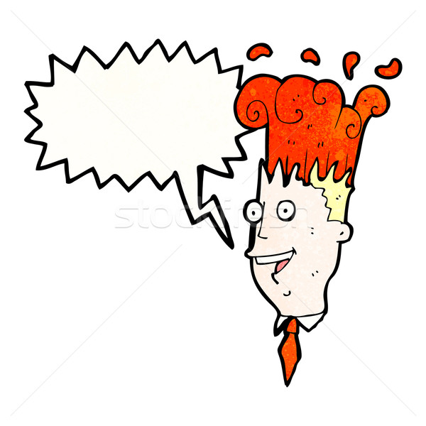 cartoon exploding head man Stock photo © lineartestpilot