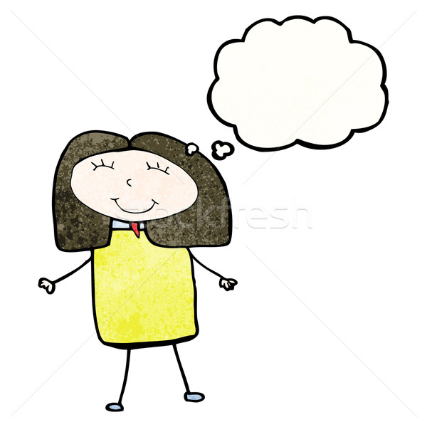 child's drawing of a woman with thought bubble Stock photo © lineartestpilot