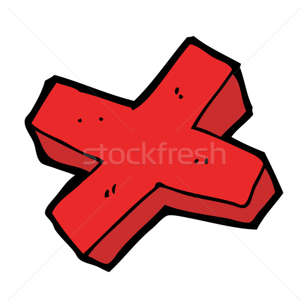 cartoon negative cross symbol Stock photo © lineartestpilot