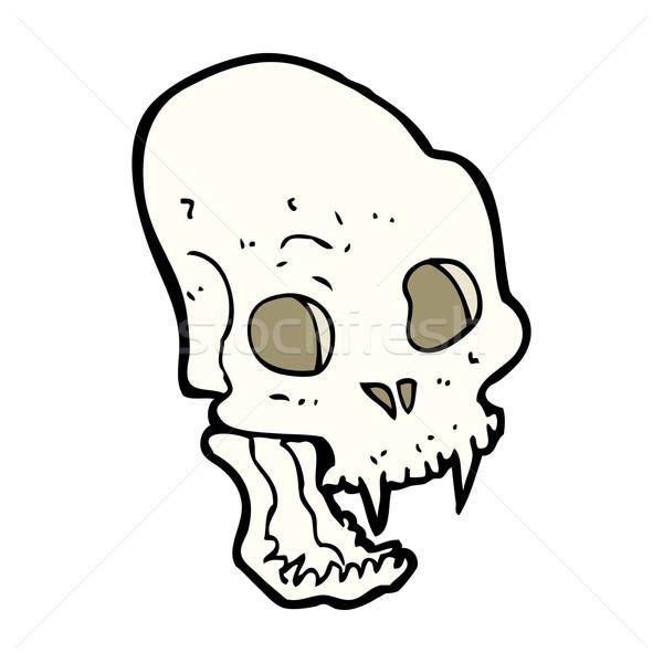 漫画 吸血鬼 頭蓋骨 手 デザイン ストックフォト © lineartestpilot