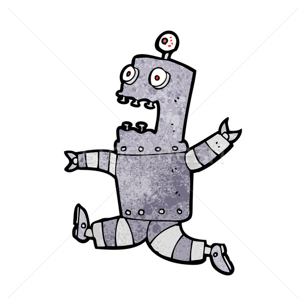 cartoon terrified robot Stock photo © lineartestpilot
