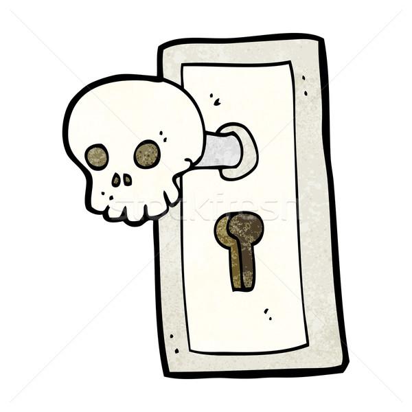 cartoon spooky door knob Stock photo © lineartestpilot
