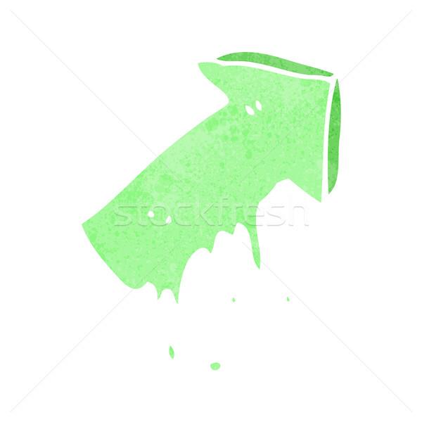 Karikatür sümüksü işaret ok simge el Stok fotoğraf © lineartestpilot